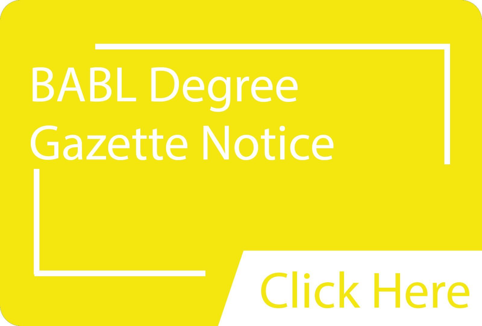 BABL Gazette.siba.edu.lk