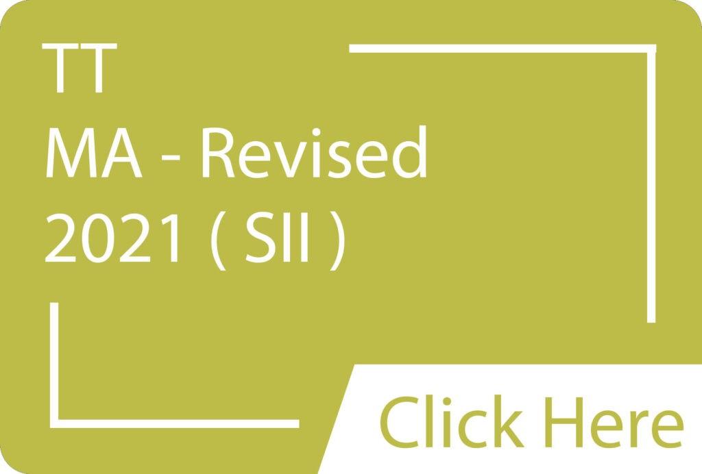 MA SII ( Revised ) TT 2021.siba.edu.lk