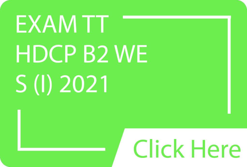 HDCP S1 EXAM TT.siba.edu.lk